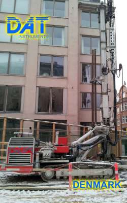 DAT instruments, drilling, jetgrouting, Cityringen, Copenhagen, drilling equipment