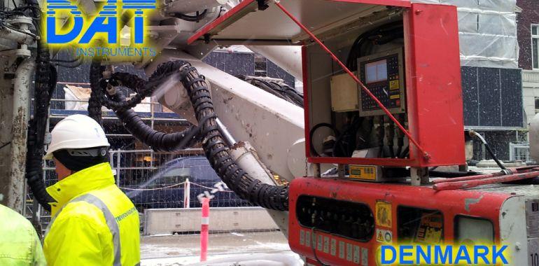 DAT instruments, drilling, jetgrouting, Cityringen, Copenhagen, work in progress