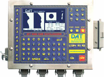 DAT instruments, JET 4000 AME / I datalogger for grouting, Lugeon test