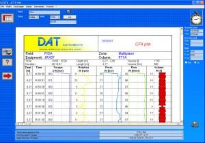 JET 4000 AME / J datalogger for drilling, jet grouting, soil mixing, deep mixing, CFA, vibroflot