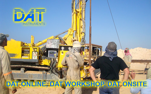 DAT instruments, jobsite datalogger training, DAT ONLINE, DAT WORKSHOP, DAT ONSITE
