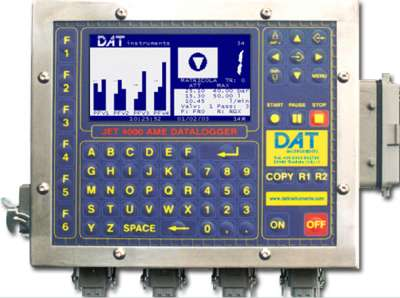DAT instruments, JET 4000 AME / I, datalogger for Grouting, TAM grouting, Lugeon tests