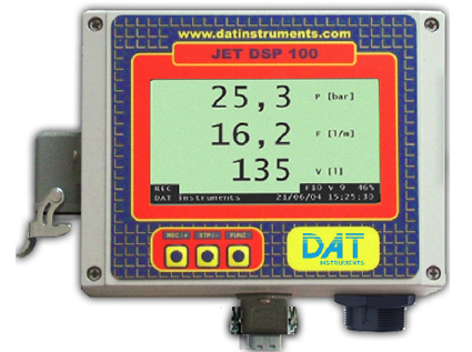 DAT instruments, JET DSP 100 / I / IR / IRT, datalogger for Grouting, Lugeon tests