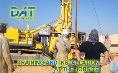 DAT instruments, datalogger, DAT ONSITE, training and installation at the jobsite