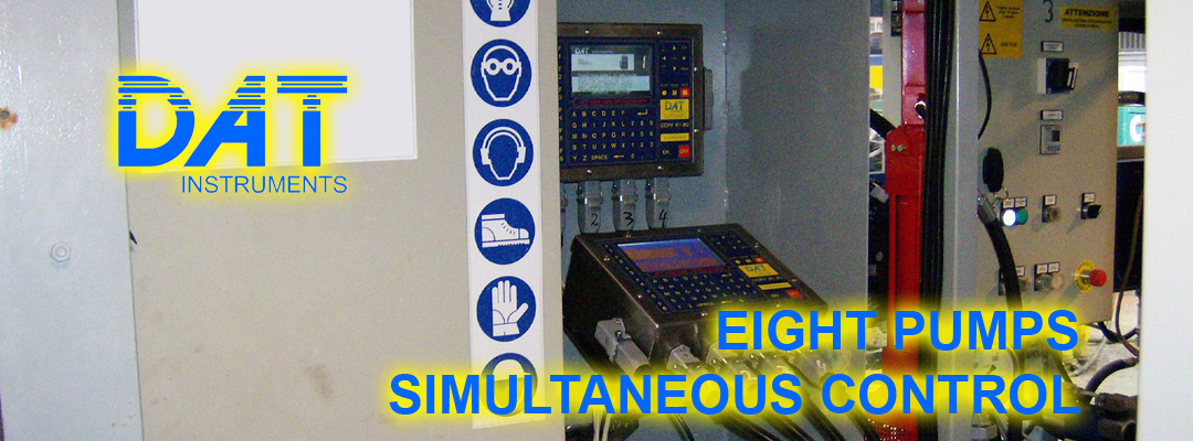 DAT instruments, datalogger, control, eight pumps simultaneous