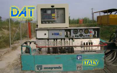 DAT instruments, JET 4000 AME / J, datalogger for jet grouting, double fluid jet grouting, Italy