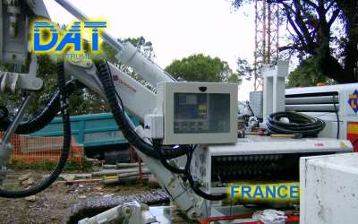 DAT instruments, JET 4000 AME / J, datalogger for jet grouting, single fluid jet grouting, France