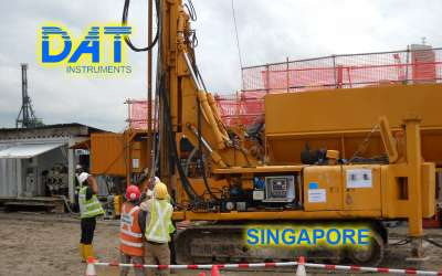 DAT instruments, JET 4000 AME / J, datalogger for jet grouting, triple fluid jet grouting, Singapore