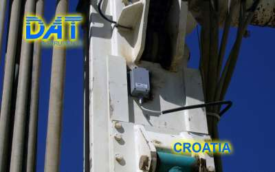 DAT instruments, JET INCL XY, mast inclination sensor, Croatia