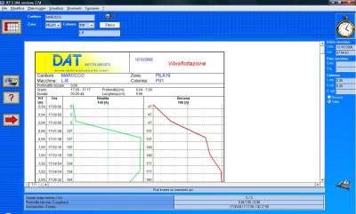 DAT instruments, JET S 104, software for vibroflotation