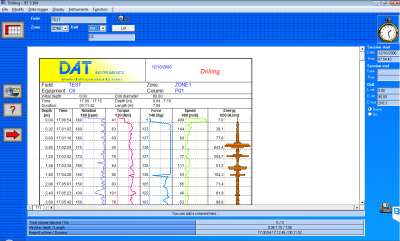 DAT instruments, JET S 104, software for Drilling, MWD