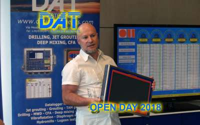 DAT instruments, Open Day 2018, DAT WideLog, Daniele