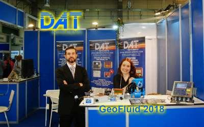 DAT instruments, GeoFluid 2018, stand, jetgrouting, CFA, drilling dWalls, scavo di diaframmi