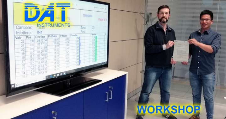 DAT Workshop, visita in azienda, consegna certificato di partecipazione, training, datalogger