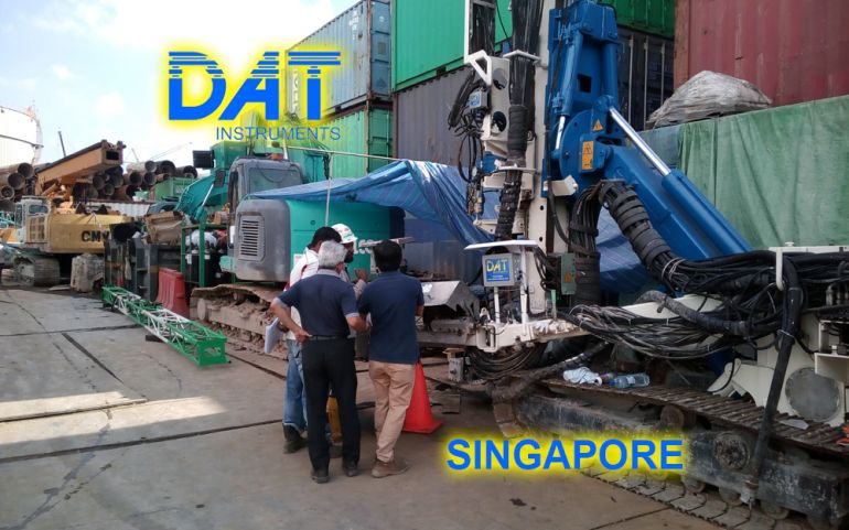 DAT instruments had the specific demand of the final Customer to have technical support for the data logger aftersales service directly in field. Working in this sector since the year 2001, DAT instruments has a lot of high-level experience in order to satisfy most of Customer's requirements. In details, DAT instruments contacted the reseller in the area of Singapore who carried out an aftersales service directly in field as demanded by the final Customer. DAT instruments manages an early and complete aftersales service in field for the final Customer. In this way, the Customer can be followed in any phase of its working time and can be early helped for any need or doubt. DAT instruments head quarter in Italy is always at disposal for any doubt, working together with its reseller in field. Product specification: The installed system is a JET 4000 AME / J - MDBJ with sensors for drilling and bi-fluid jet grouting phase. Sensors installed are: • JET DEPTH depth sensor with the possibility of measuring and recording data in millimeters (mm). • JET FORCE and JET TORQ feed force and boring rod rotation torque • JET ROT boring rod rotation speed • dPress system for pressure changes in order to calculate cement flow • JET PRESS air and cement pressure • In addition to this, the system is connected to the JET INCL XY inclinometer to record mast inclination. Further information: http://www.datinstruments.com/en/jet-4000-ame-j-datalogger-for-jet-grouting/, technical support in field