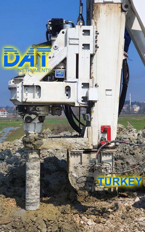 DAT instruments, DAT TinyLog, road construction, datalogger, data recorder, Karasu port, DRILLING RIG, soil mixing to widen a road