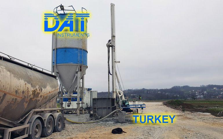 DAT instruments, DAT TinyLog, road construction, datalogger, data recorder, Karasu port, building site