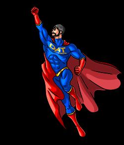 DAT instruments logo, character superhero DATman DAT-man DAT man, datalogger