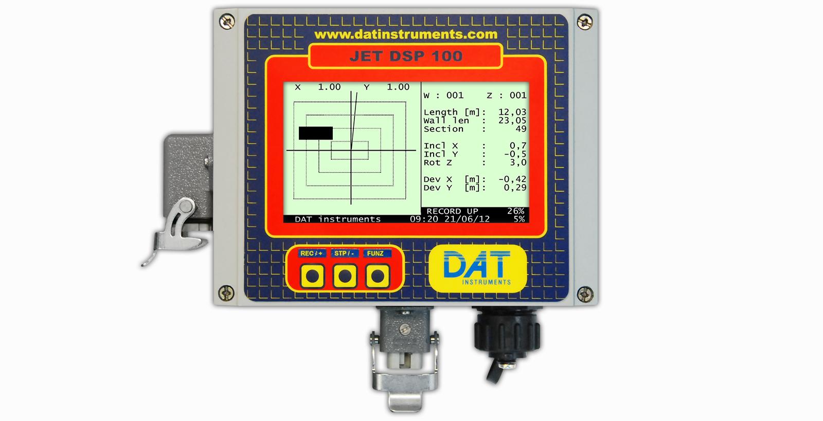 DAT instruments, JET DSP 100 - D, datalogger para Excavación de diafragmas
