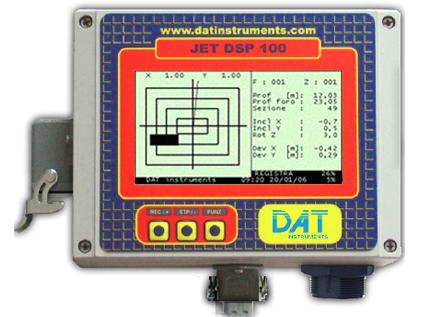 DAT instruments, JET DSP 100 - H, datalogger para Hidrofresas, excavación de diafragmas y hydromills