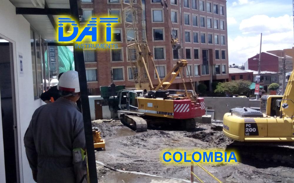 DAT instruments, Colombia, 2014, JET DSP 100 - D, excavación de diafragmas, grúa con dragalina, obras para el subsuelo