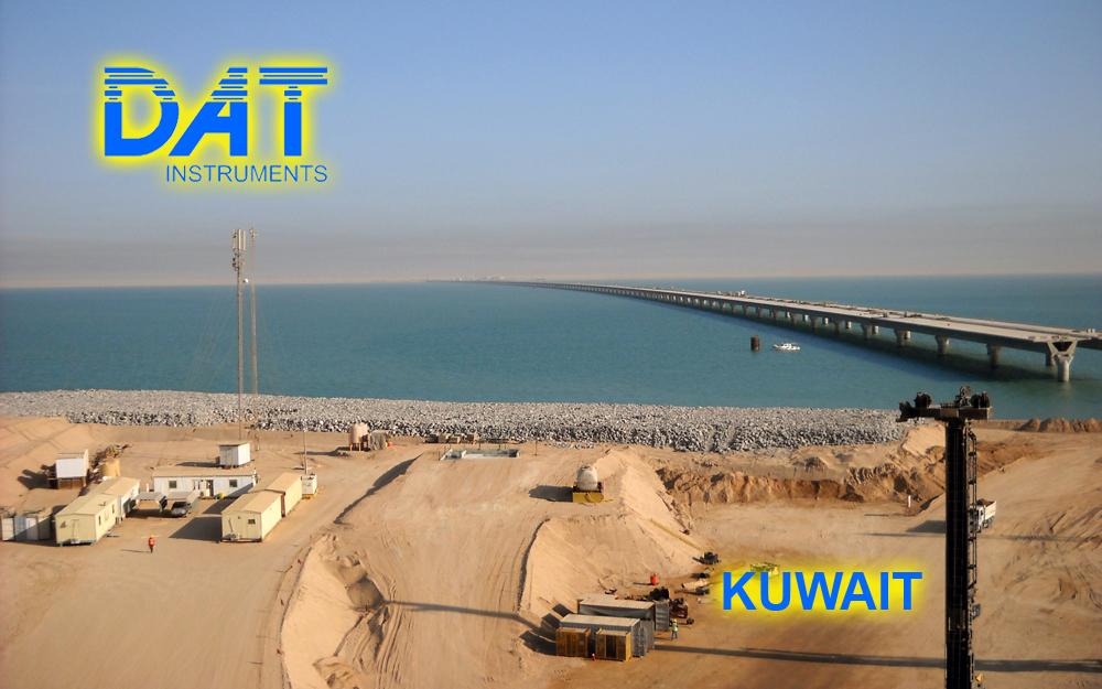 DAT instruments, Kuwait, Sheikh Jaber Al-Ahmad Al-Sabah, JET 4000 AME - J, datalogger para Sand compaction piles (SCP), obra