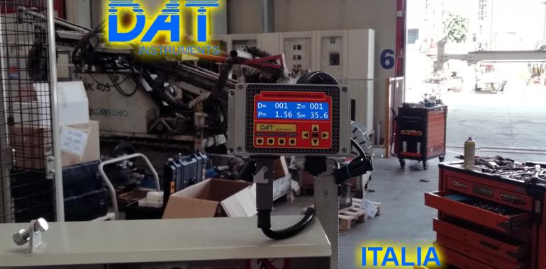 DAT instruments, datalogger, JET SDP IB, instalación llave en mano en la sala del fabricante del taladro, Datalogger instalado desde el productor de perforadoras