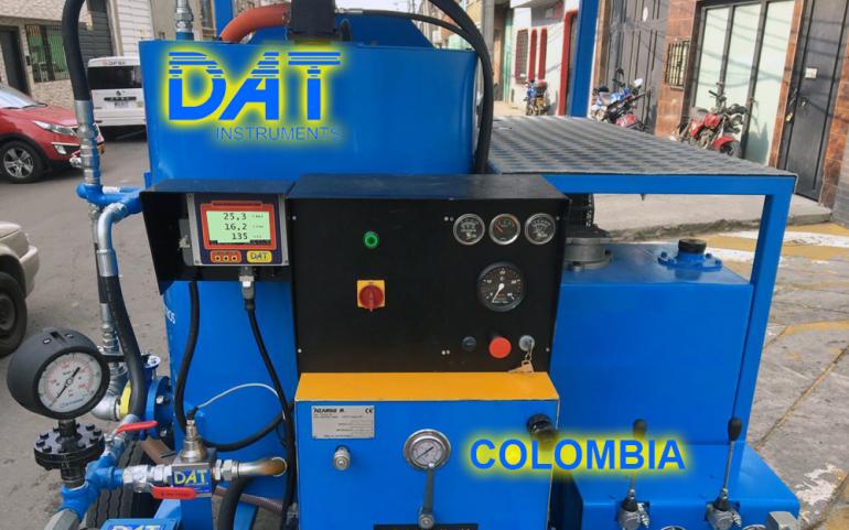 DAT instruments, Colombia, datalogger, grouting, JET DSP 100 IRT, en el equipo, Autohormigonera y bomba de inyección móvil
