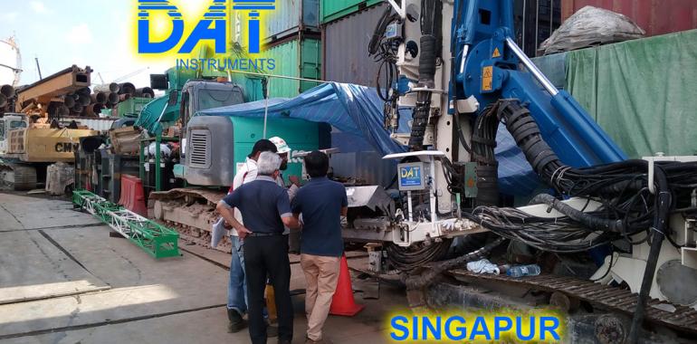 DAT instruments, Singapur 2018, datalogger, simple fluido jet grouting, JET 4000 AME J MDJ, installacion