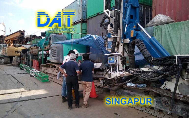 DAT instruments, Singapur 2018, datalogger, simple fluido jet grouting, JET 4000 AME J MDJ, installacion, asistencia en la obra