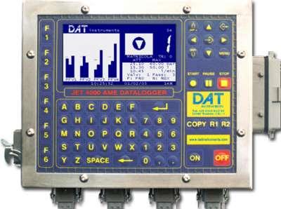 DAT instruments, JET 4000 AME / I, datalogger per Iniezioni di cemento, Pali valvolati, Prove Lugeon