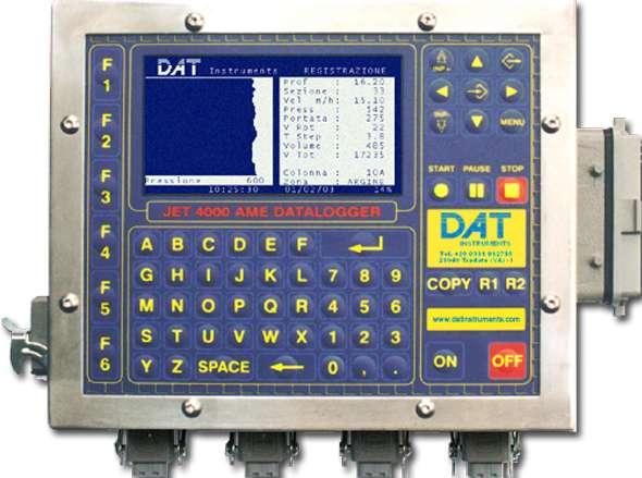 DAT instruments, JET 4000 AME / J, datalogger per Jet grouting, Trivellazioni, DAC test, CFA, Deep mixing, Soil mixing, Vibroflottazione