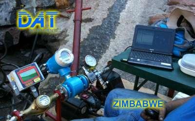 DAT instruments, JET FLOWL, sensore di flusso elettromagnetico, Zimbabwe