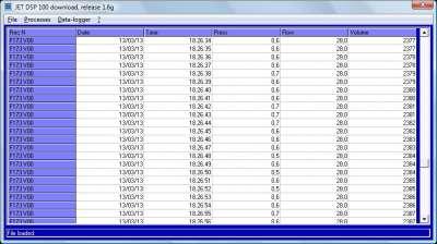 DAT instruments, JET DSP 100 downolad, software di gestione dati e configurazione per JET DSP 100