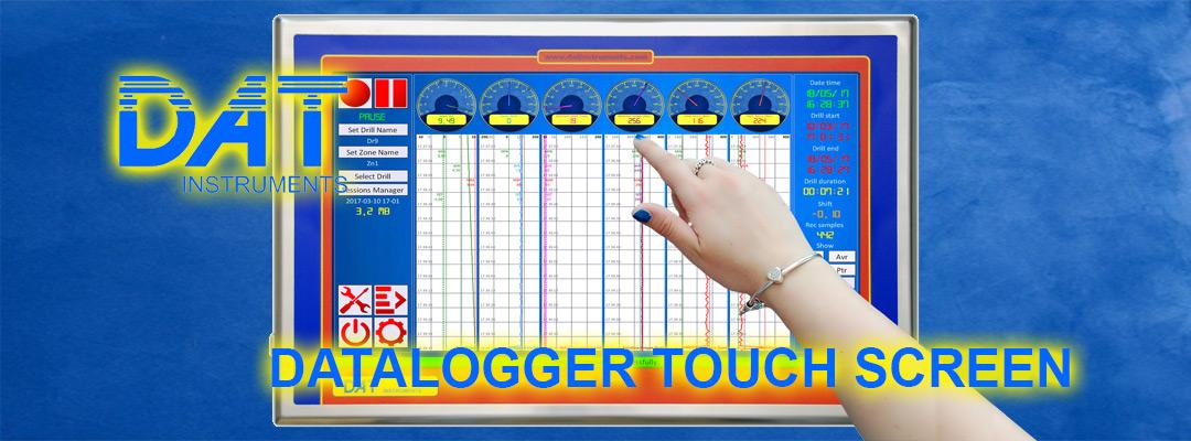 DAT instruments, datalogger per geotecnica e fondazioni speciali, DAT WideLog, touch screen