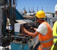 DAT instruments, Italia, Taranto, JET SDP / IB, datalogger per perforazioni, schermo ad alta luminosità, porto di Taranto