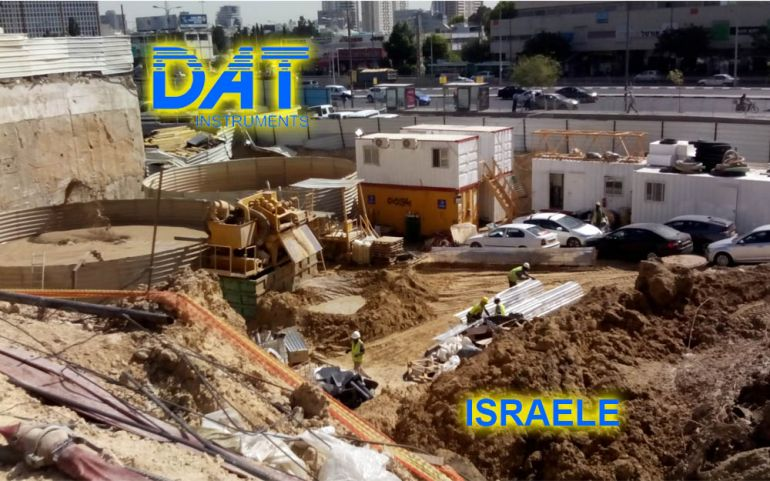 DAT instruments, Israele, Scavo di diaframmi, JET DSP 100 - D, cantiere