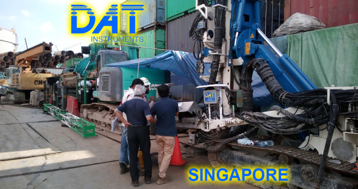 DAT instruments Singapore 2018 datalogger jet grouting monofluido JET 4000 AME J MDJ installazione, assistenza in cantiere