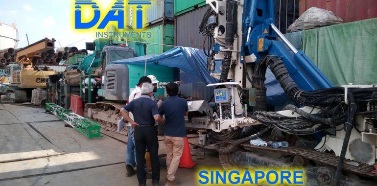 DAT instruments Singapore 2018 datalogger jet grouting monofluido JET 4000 AME J MDJ installazione, assistenza in cantiere