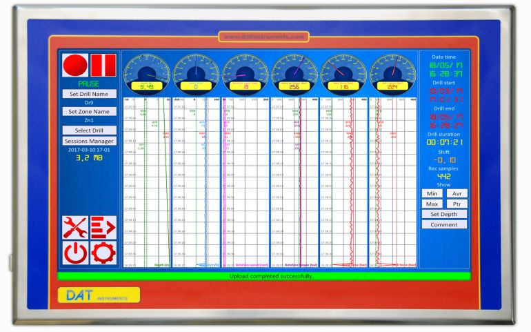 DAT instruments DAT WideLog datalogger touchscreen per CFA (pali ad elica continua), ACP