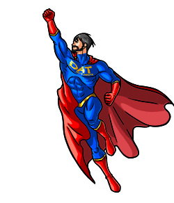 DAT instruments logo, personaggio supereroe DATman DAT-man DAT man, datalogger
