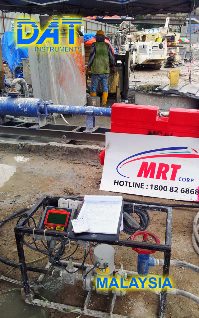 DAT instruments, dataloggers for: Jet grouting – Grouting – Cement injection – TAM grouting – Drilling – MWD – CFA – Deep mixing – Soil mixing – Vibroflotation – Diaphragm walls – Lugeon test – Mineral investigation