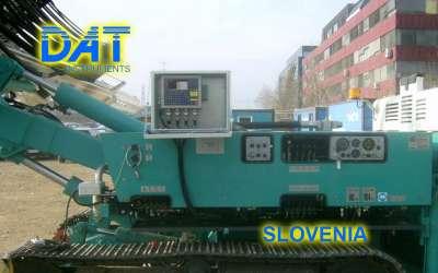 DAT instruments, JET 4000 AME / J, datalogger for jet grouting, Slovenia