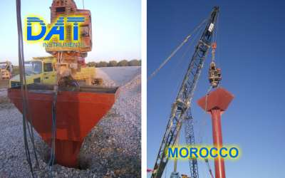 DAT instruments, JET 4000 AME / J, datalogger for vibroflotation with gravel, Morocco