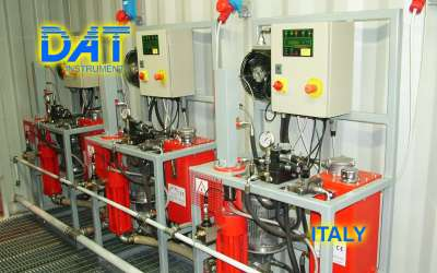 DAT instruments, JET 84 AME, cement pump electronic control panel, Italy