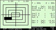 DAT instruments, JET DSP 100 / D, diaphragm walls parameters screen