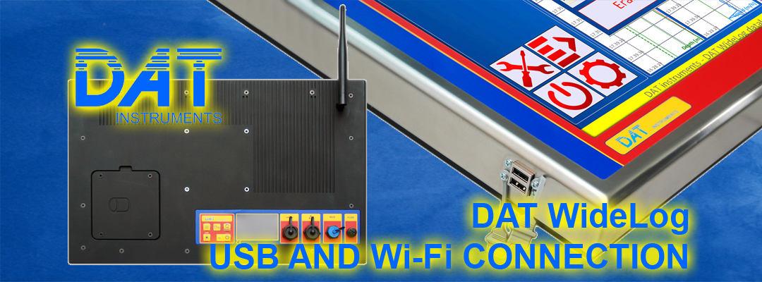 DAT instruments, datalogger for geotechnics and special foundations, DAT WideLog, USB and Wi-Fi connection