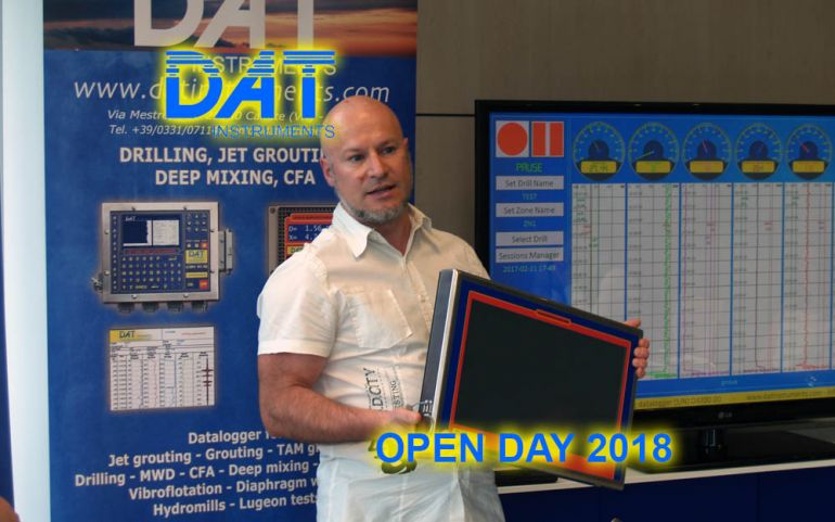 DAT instruments, Open Day 2018, DAT WideLog, Daniele