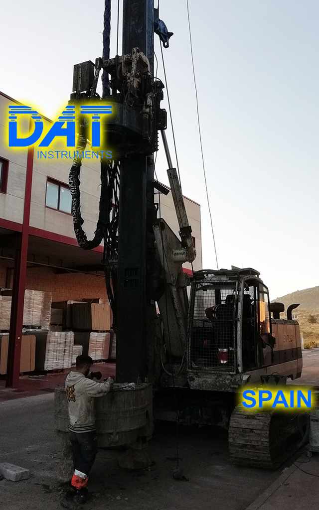 DAT instruments, datalogger, data logger, recorder, soil mixing, JET 4000 AME J MM, Enteco drilling rig
