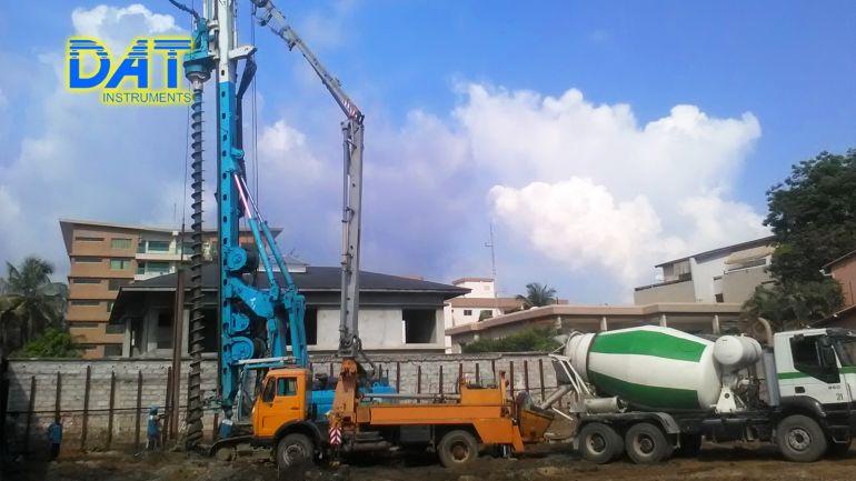 CFA, continuous flight auger, auger cast pile, ACP, sensors, recorder, DAT instruments, concrete pressure sensor, transducer